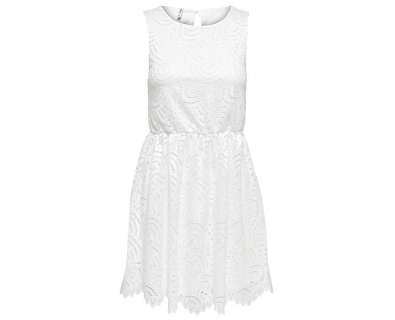 ONLY Dámske šaty Edith S/L Dress Jrs Noos Cloud Dancer