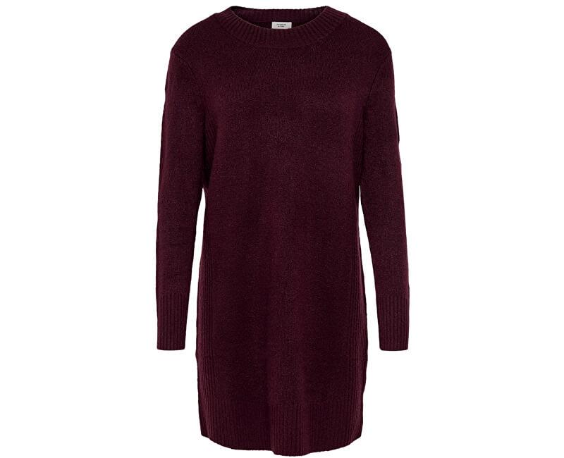 ONLY Dámské šaty Jdy Gold L/S Dress Knit Winetasting