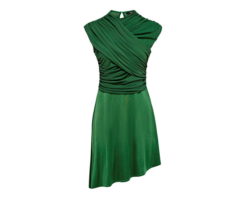 ONLY Dámské šaty True S/L Drappy Dress Jrs Verdant Green