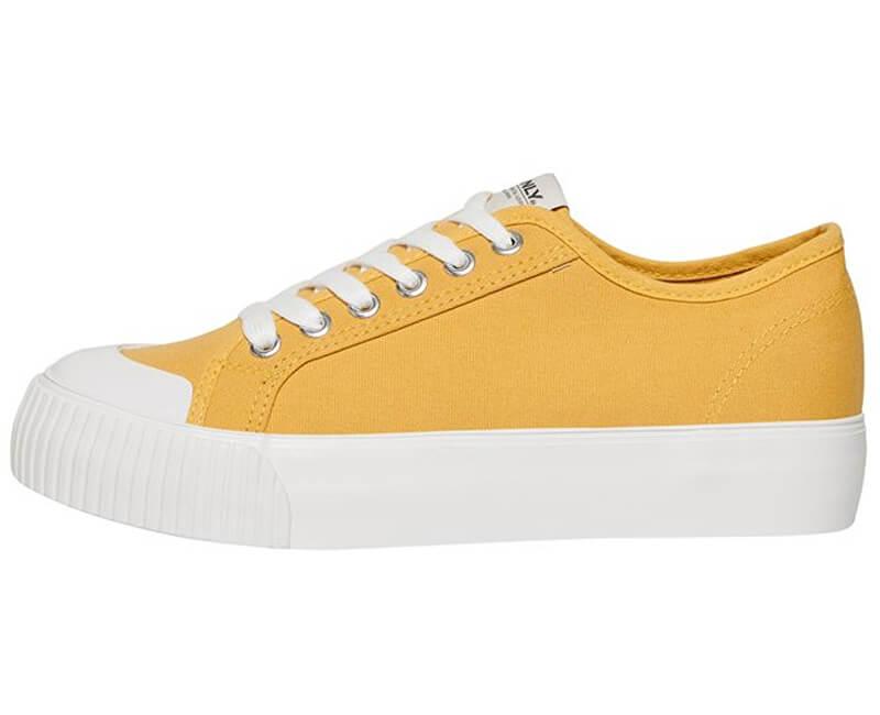 ONLY Dámské tenisky Saloni Plain Canvas Sneaker Sunshine