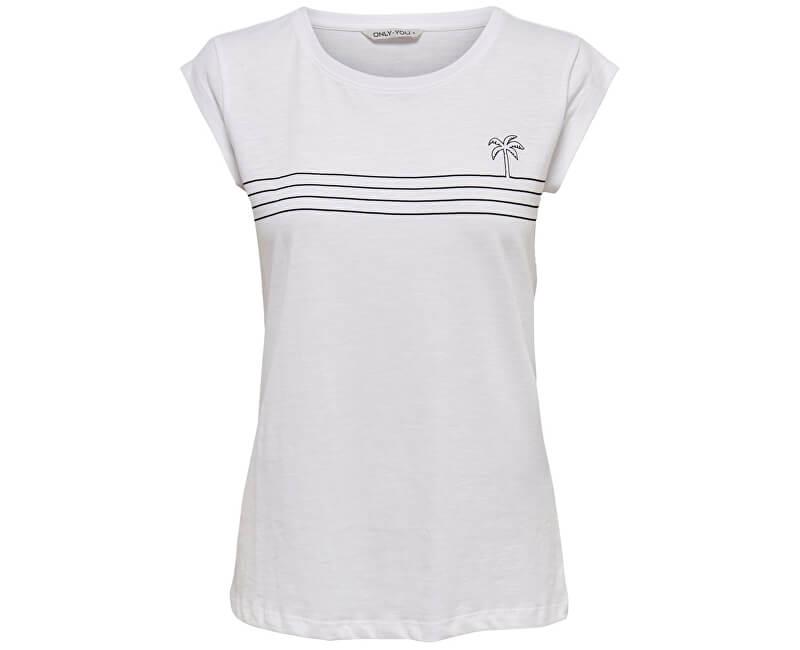 ONLY Dámske tričko Ybine S/S Top Box Jrs Bright White Black