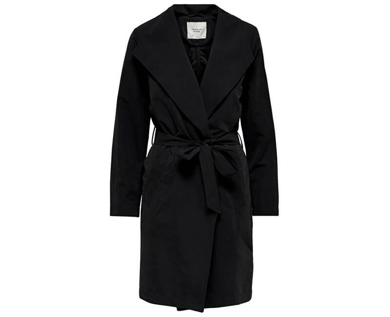 4cc52e91ba0a ONLY Dámsky kabát Jdyida Drapy Jacket Otw Glo Black Novinka
