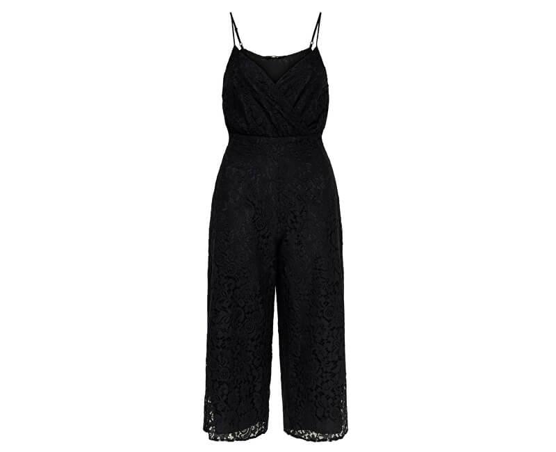 ONLY Dámsky overal Cassia Strap Cropped S/L Jumpsuit Wvm Black