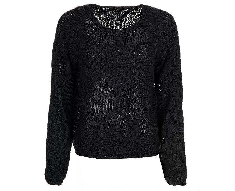 fcb2c5224dc ONLY Dámský svetr Felina L S Pullover KNT Black ...