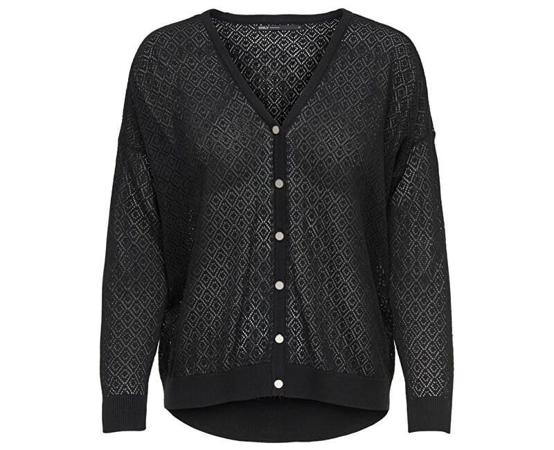 ONLY Dámsky sveter New Oda L/S V-neck Cardigan Knt Black