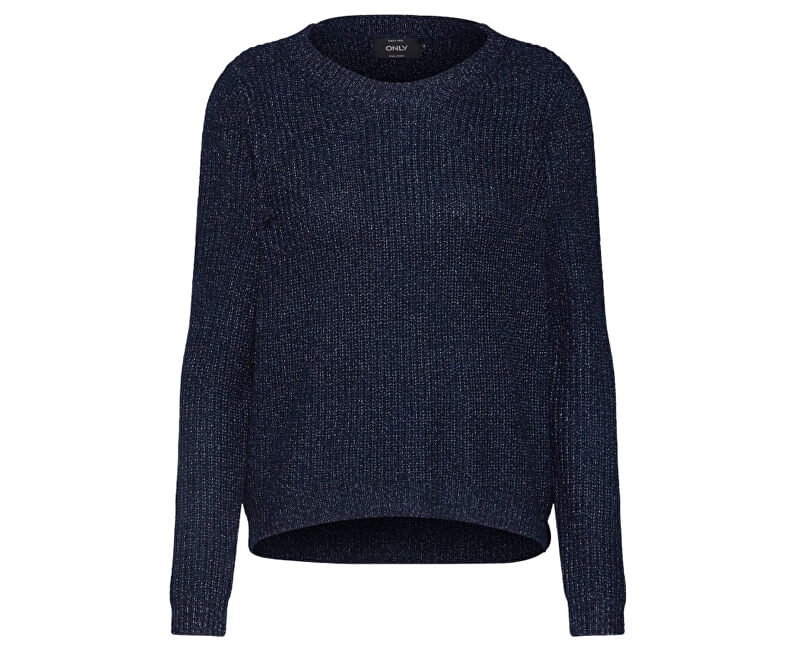 ONLY Dámsky sveter Shiny L/S Pullover Knt Night Sky W.Insignia Blu