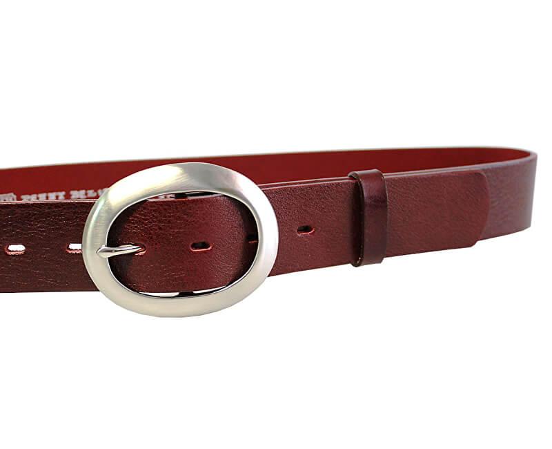 0f5d62fa630a Penny Belts Dámsky kožený opasok 11895 Tmavo Červený Novinka