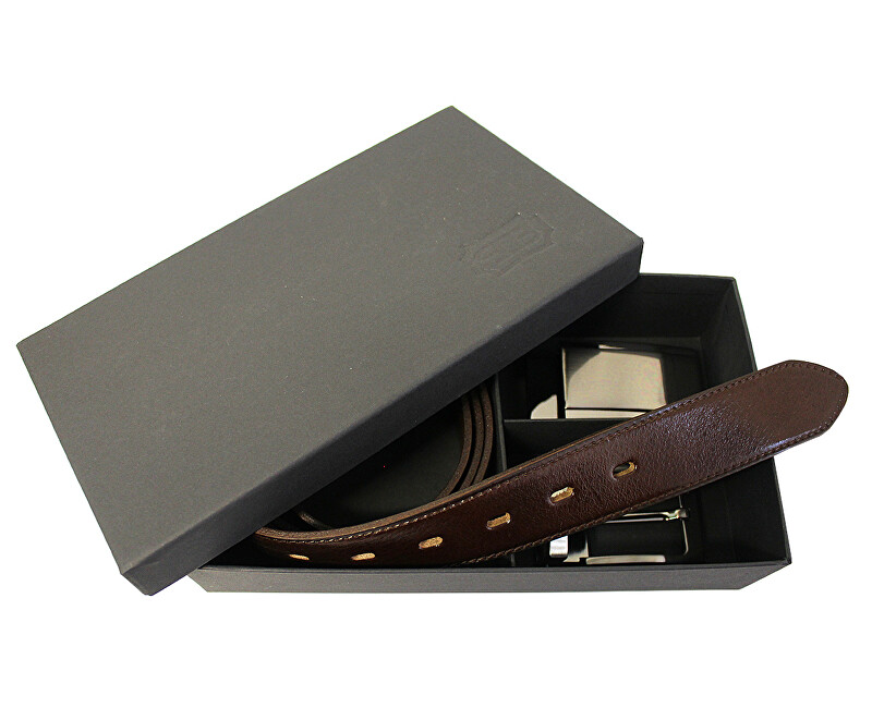 Penny Belts Set centura cadou 35-020-22 și 4PS maro