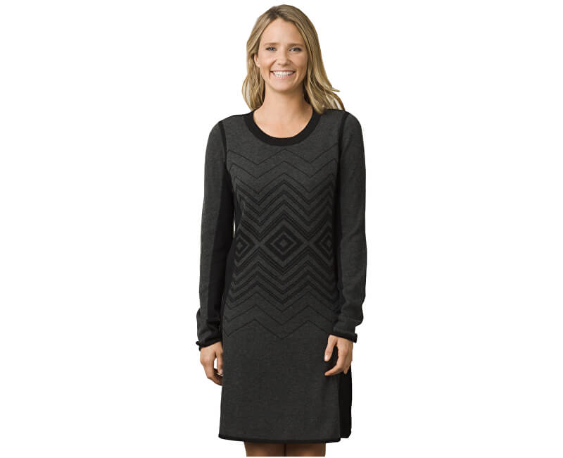 Prana Dámské šaty Delia Dress Charcoal