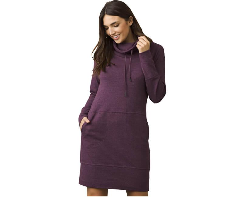 Prana Dámské šaty Ellis Popover Dress Dark Plum