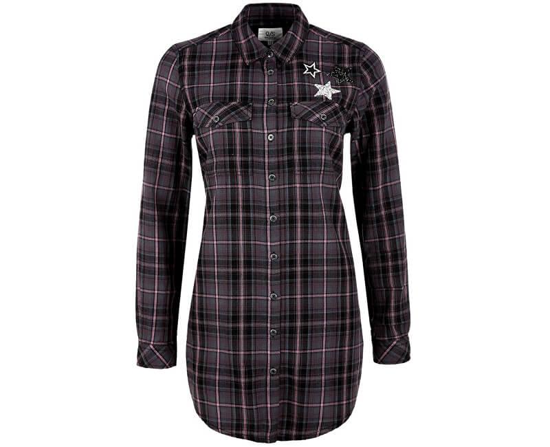 Q/S designed by Dámská košile 41.711.11.8291.98N0 Black/Pink