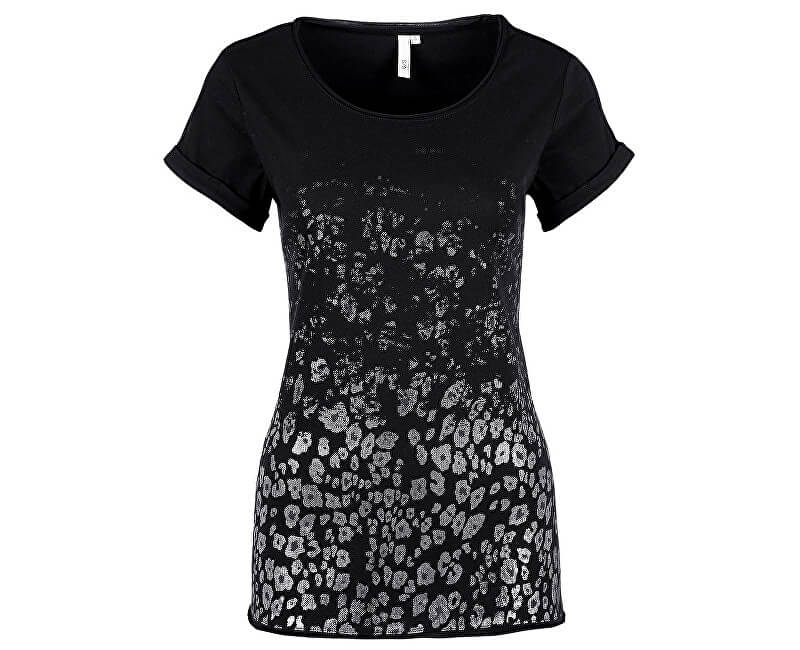 ee993b9a20 Q/S designed by Női fekete ing mintás rövid ujjú | Vivantis.hu ...