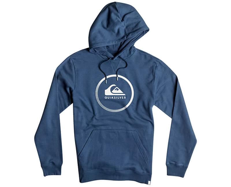 Quiksilver Mikina Big Logo Hood Navy Blazer Heather EQYFT03717-BYJH