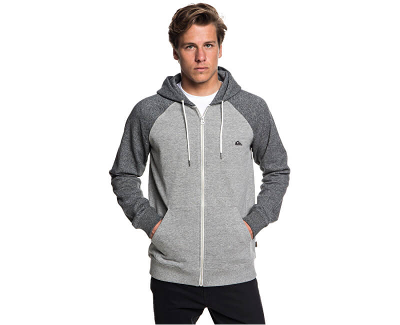 Quiksilver Mikina Everyday Zip Light Grey Heather EQYFT03849-SJSH