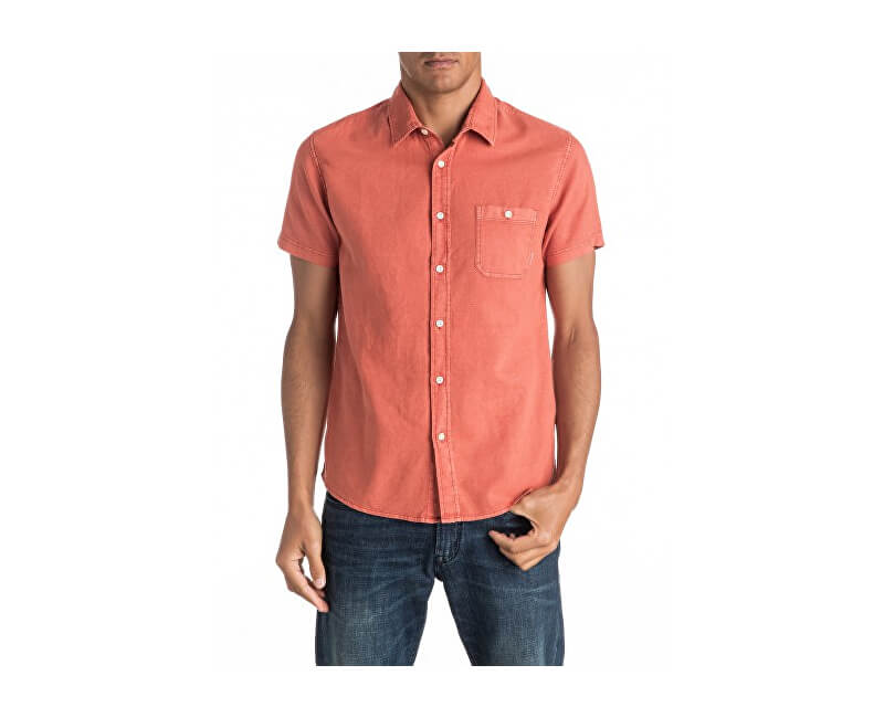 Quiksilver Shirt pentru bărbați Time Box Burnt Sienna EQYWT03444-NMH0