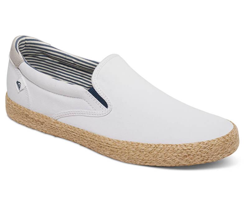 71e75ed97 Quiksilver Pánské tenisky Shorebreak Slip-on Esp White/White/Brown  AQYS300056-XWWC