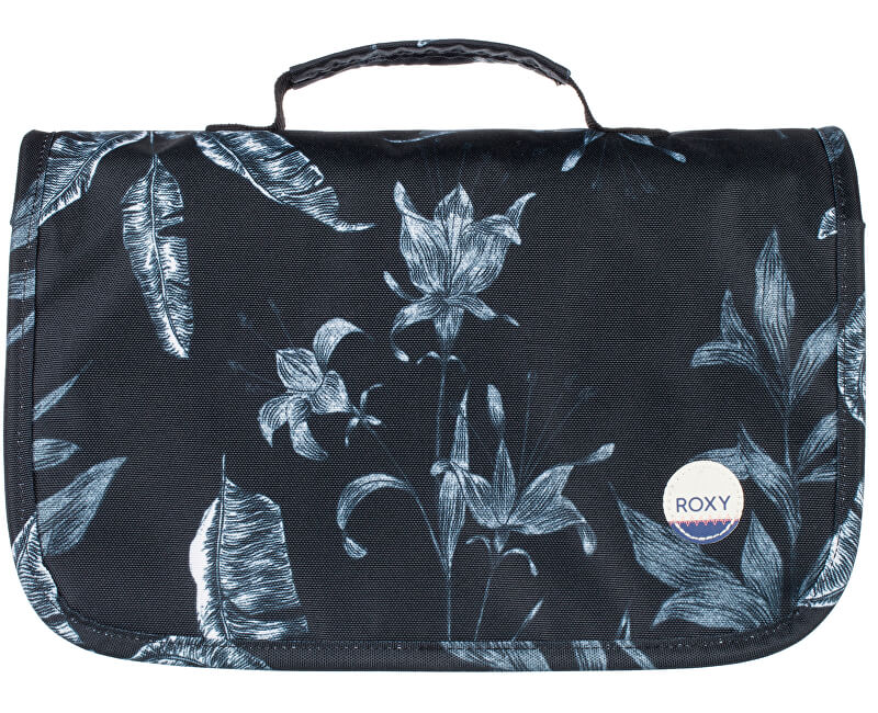 Roxy Cestovní pouzdro Waveform Vanity Anthracite Love Lett ERJBL03100-KVJ8