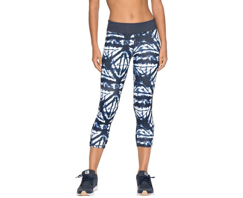 f845a768230 Roxy Dámske fitness legíny Natural Twist Capri Dress Blue Geometric Feeling  ERJWP03014-BTK6