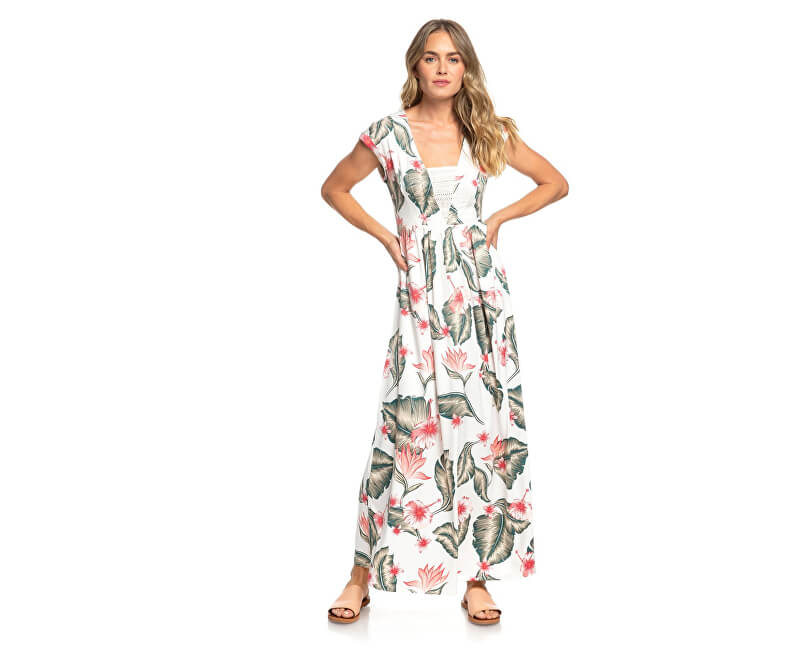 2cb94a217293 Roxy Dámske šaty A Day At Tribeca MKarshmallow Tropical Love  ERJWD03306-WBT7 Novinka