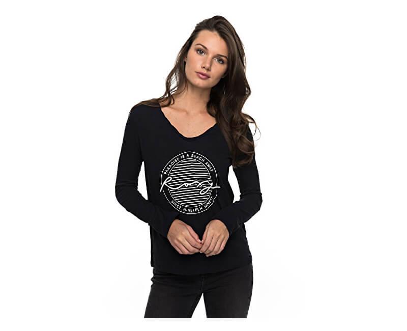 Roxy Dámské triko Lsvtwistparadis Anthracite ERJZT04010-KVJ0