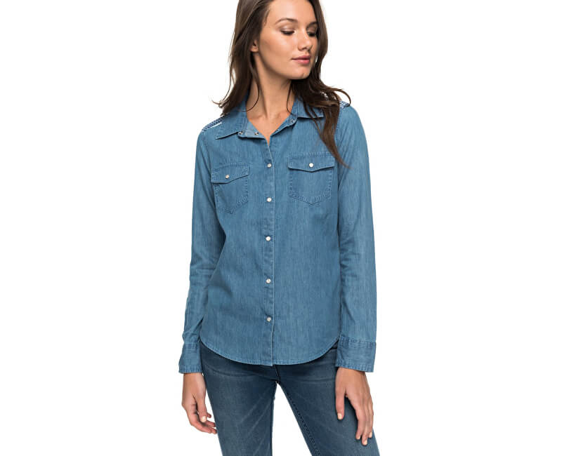 Roxy Dámská košile Light Of Down Long Sleeve Chambray Shirt ERJWT03157-BMTW