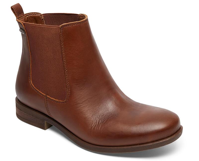 Roxy Kotníčkové boty Diaz Dark Brown ARJB700542-DBR