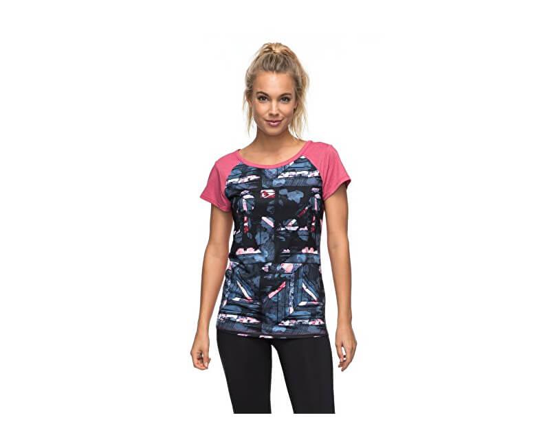 Roxy Dámské sportovní triko Be T Ry Tee Anthracite Blur Pain ERJKT03293-KVJ6
