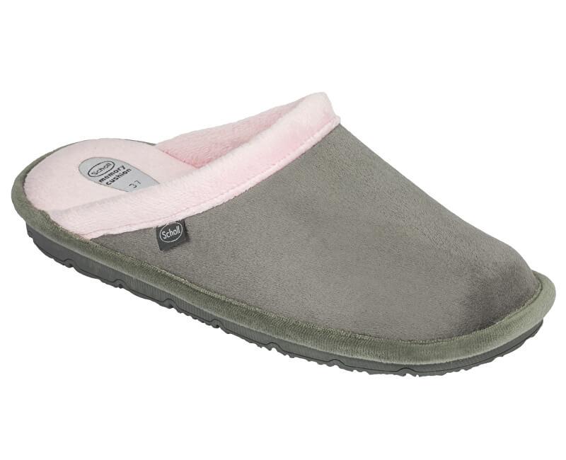 Scholl Dámské pantofle New Brienne Memory Cushion Grey/Pink F263181487