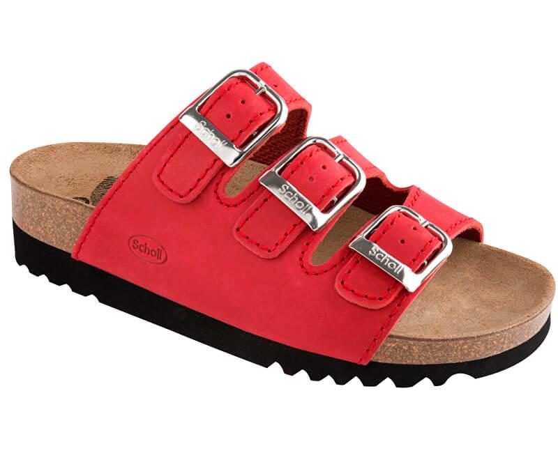 Scholl Dámské pantofle Rio Wedge AD Adapta Red F264541051