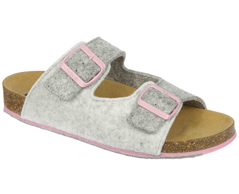 Scholl Dámské pantofle Spikey8 Bioprint Grey/Light Grey/Pink F266952103