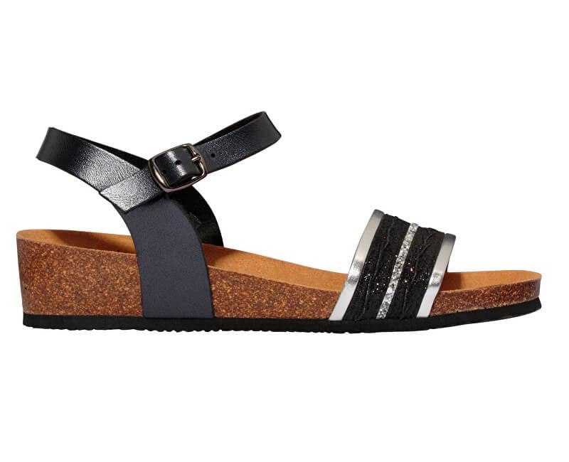 Scholl Dámske sandále Ivette Bioprint Black F274151004