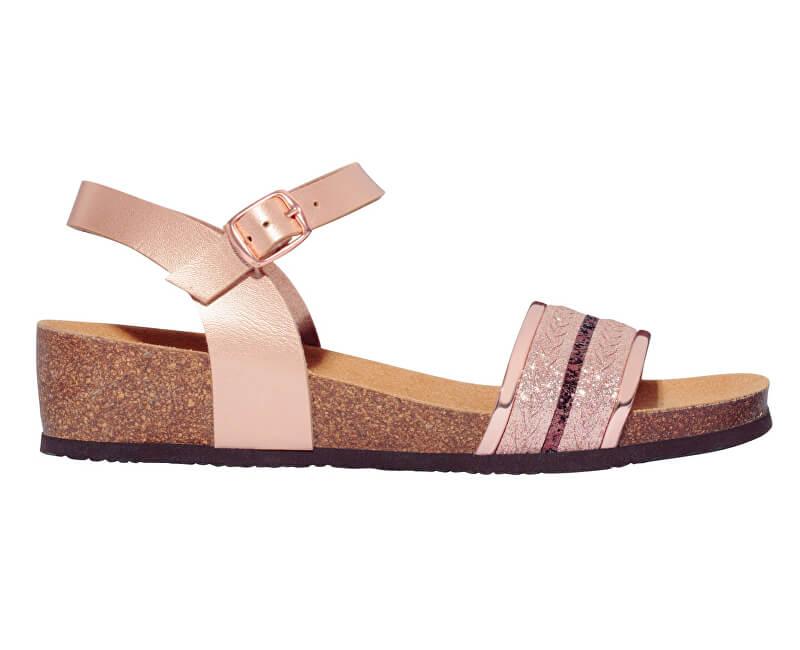 Scholl Dámske sandále Ivette Bioprint Rose Gold F274151853