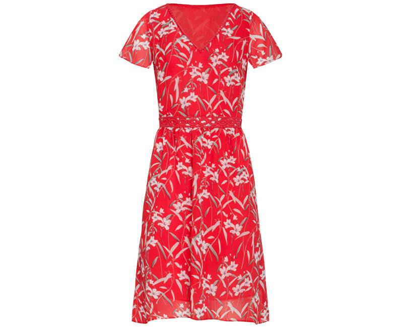 Smashed Lemon Dámske šaty 19317 Red/White