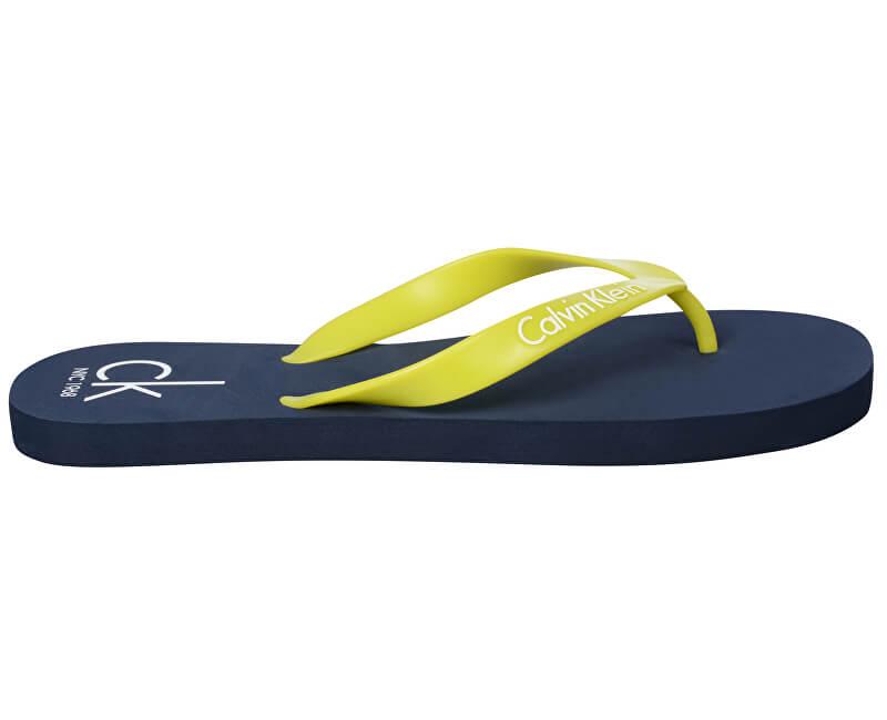 e2121056401d Calvin Klein Pánské žabky FF Sandals KM0KM00205 Blue Shadow - SLEVA
