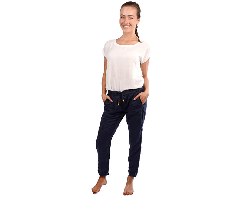 S.Oliver Pantaloni albaștri pentru femei Chino lungime 32