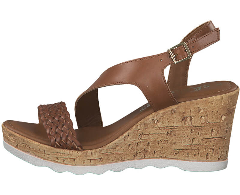 S.Oliver Dámske sandále 5-5-28321-32-305 Cognac