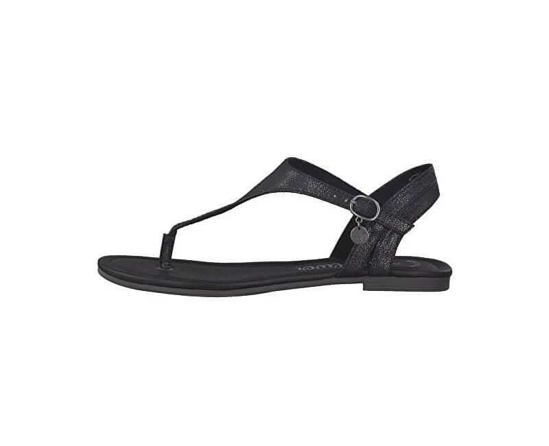 2d4f55f10611a S.Oliver Dámske sandále Black Metallic 5-5-28126-22 035 | Vivantis ...