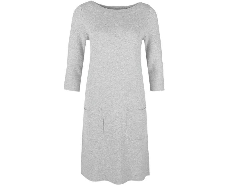 s.Oliver Dámské šedé bavlněné šaty