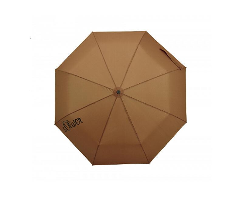 414055d3e S.Oliver Dámsky skladací mechanický dáždnik Basic Uni - brown 70865SO2202