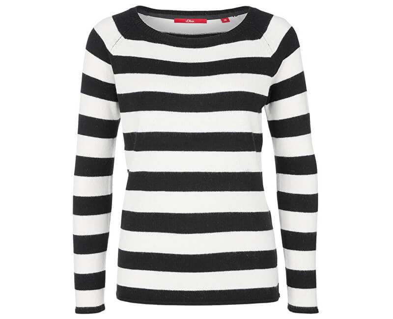 f0eeba6f6697 s.Oliver Dámský svetr 14.810.61.5636.99G0 Black stripes ...