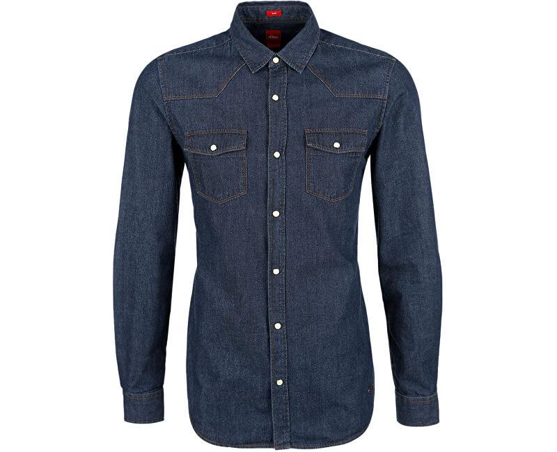 2e3b50ba0de Oliver Pánská džínová košile Slim Fit s dlouhým rukávem ...