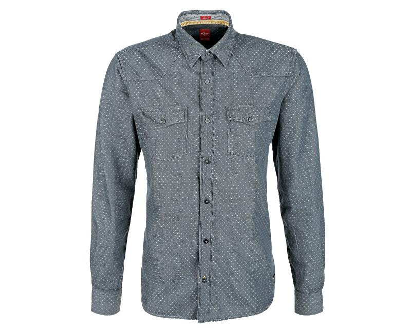 s.Oliver Pánská košile 13.709.21.3110.95K5 Grey