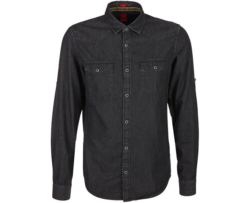 s.Oliver Pánská košile 13.711.21.4029.99Y8 Black