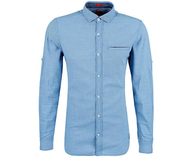s.Oliver Pánská modrá bavlněná košile