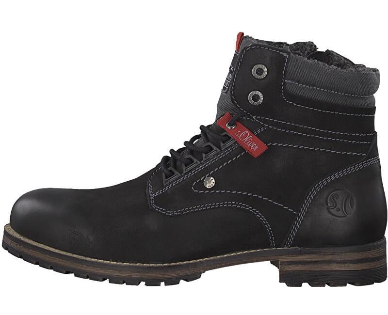 s.Oliver Pánské kotníkové boty Black 5-5-16235-31-001