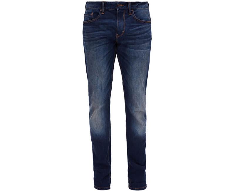S.Oliver Pánské tmavě modré strečové kalhoty Slim délka 32 ... 80c51405d8