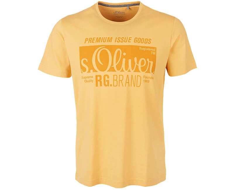 s.Oliver Pánské triko 03.899.32.5206.1425 Yellow Friend