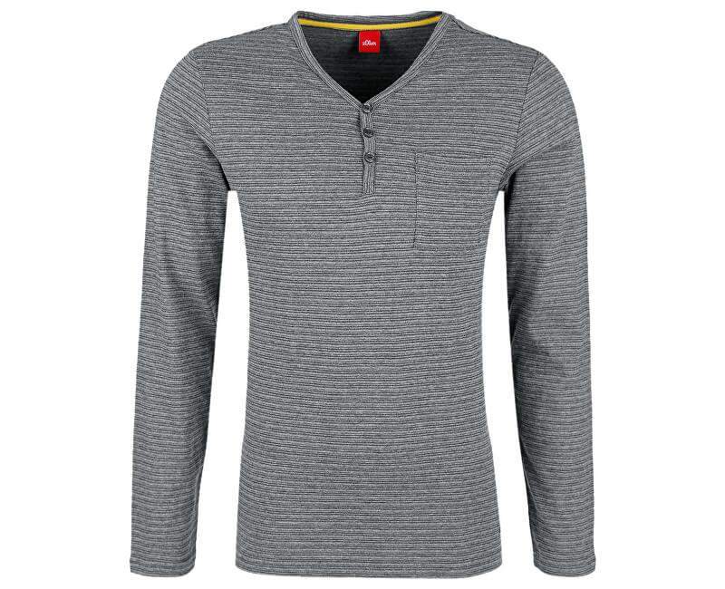 s.Oliver Pánské triko 13.709.31.5553.97G0 Blend Grey