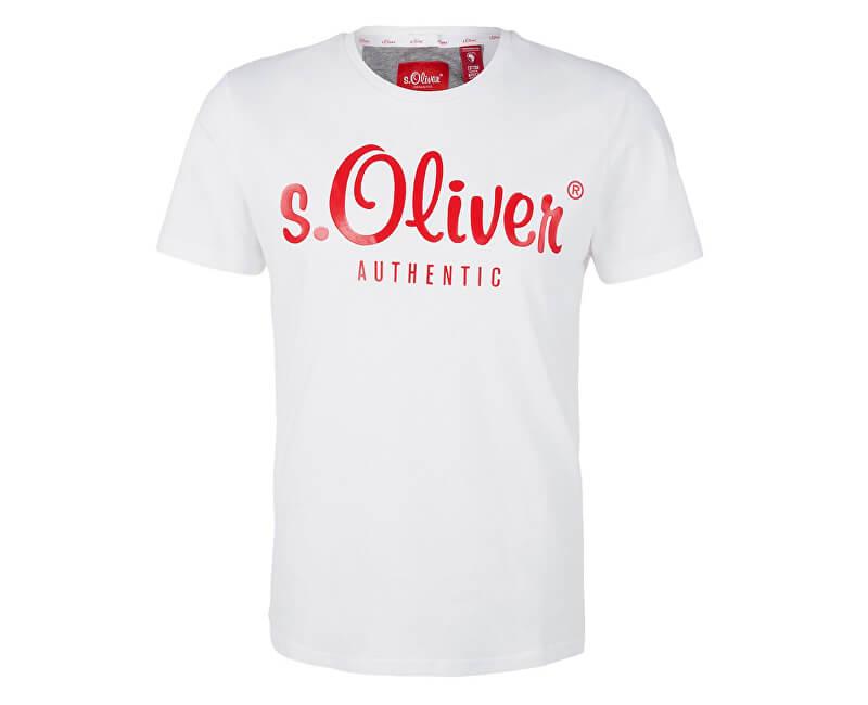 s.Oliver Pánské triko 13.901.32.4004.0100 White