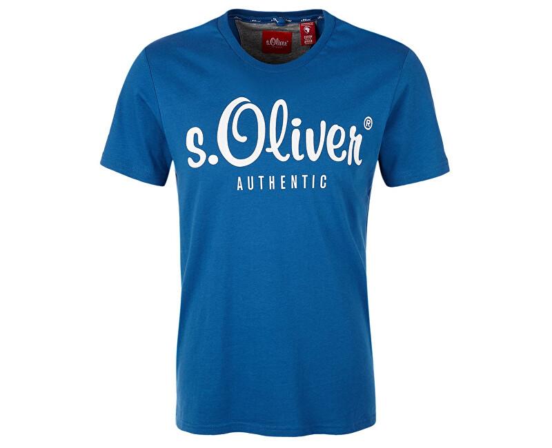 s.Oliver Pánské triko 13.901.32.4004.5488 Postcard blue